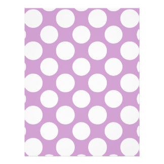 Modern Lilac White Polka Dots Pattern Personalized Flyer