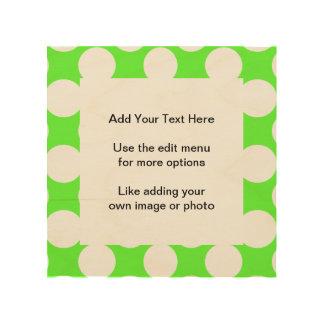 Modern Lime Green White Polka Dots Pattern Wood Prints