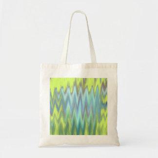 Modern Lime Turquoise Ikat Chevron Zigzag Bags