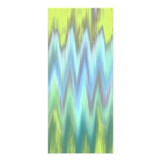 Modern Lime Turquoise Ikat Chevron Zigzag Rack Cards