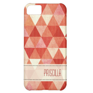 Modern Lines geometric coral Case For iPhone 5C