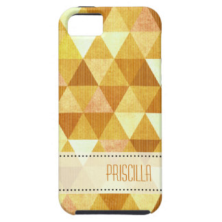 Modern Lines geometric gold iPhone 5 Cases