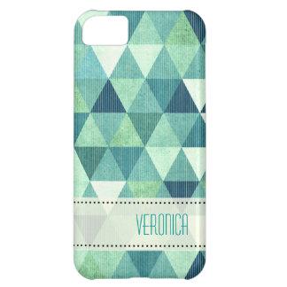 Modern Lines geometric teal iPhone 5C Covers