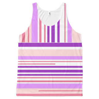 Modern Lines Sports by Bubbleblue All-Over Print Singlet