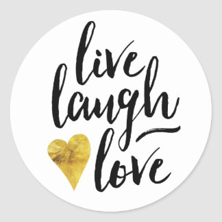 Modern Live Laugh Love Stickers