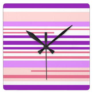 Modern Living In lines Wall Clocks