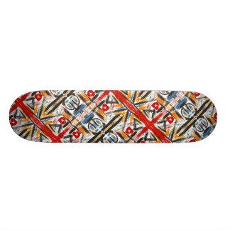 Modern Loft-Hand Painted Abstract Geometric Art Skateboards
