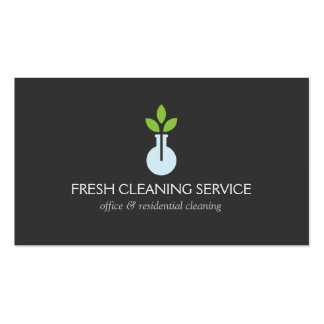 Modern Logo 4 for Cleaning Service and Hospitality Pack Of Standard Business Cards