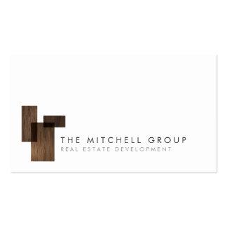 Modern Logo 4 for Real Estate, Builder, Architect Pack Of Standard Business Cards