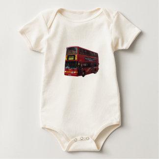 Modern London Bus Baby Bodysuit