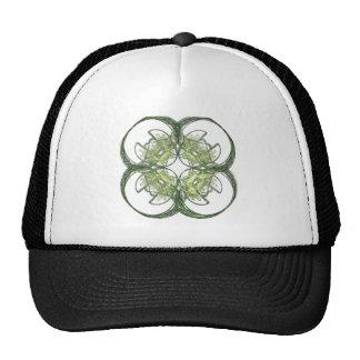 Modern Look Four Leaf Clover Fractal Art Mesh Hats