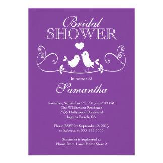 Modern Love Birds Bridal Shower Invitation