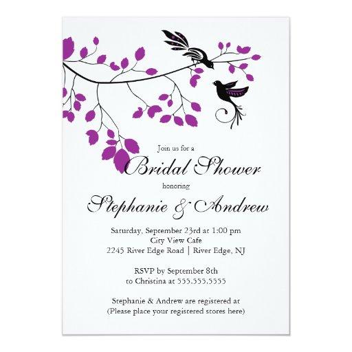 Modern love birds couples bridal shower invitation zazzle for Modern bridal shower invitations