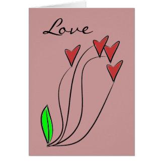 Modern Love Heart Roses Card