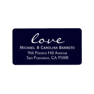 Modern Love - Navy Address Label