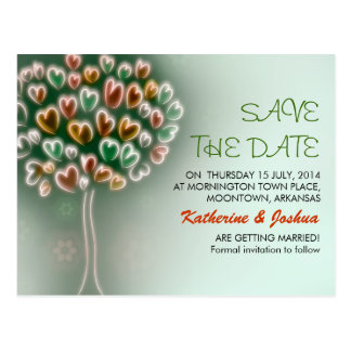 modern love tree save the date postcards