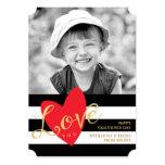 Modern Love You Valentine's Day Photo Card 13 Cm X 18 Cm Invitation Card
