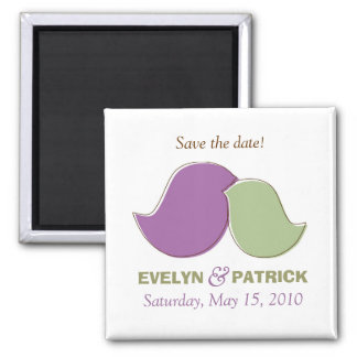 Modern Lovebirds, Save The Dates Square Magnet