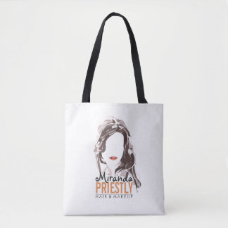 Modern Makeup Artist and Hair Stylist Beauty Salon Tote Bag