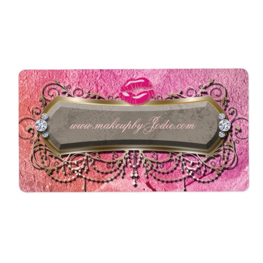 Modern Makeup Powder Hair Salon Label Shipping Label