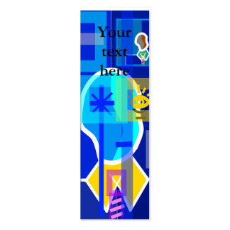 Modern man in blue transparent business cards