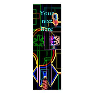 Modern man in neon business card template