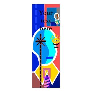 Modern man on blue business card template