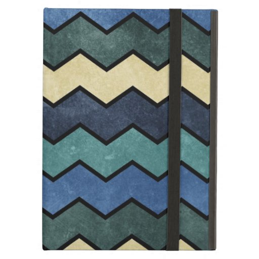 Modern Manly Blue Chevrons iPad Covers