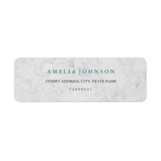 Modern Marble Blue Address Label