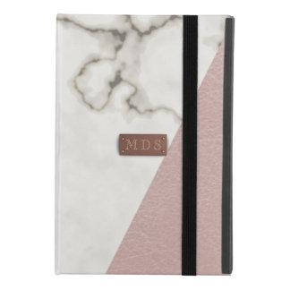 Modern Marble Faux Blush Pink Leather iPad Mini 4 Case