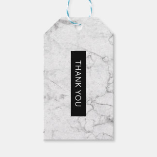 Modern marble favor tag
