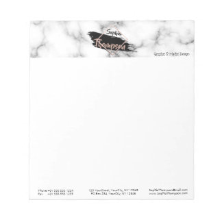 Modern Marble Paint Stroke Name - Notepad