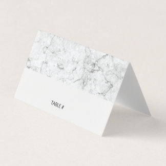 Modern marble place cards - folded