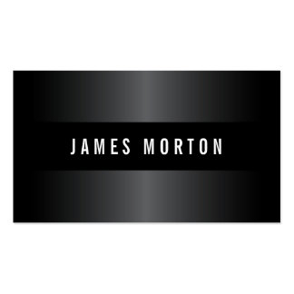 Modern masculine black gray stylish professional pack of standard business cards
