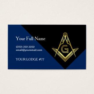 Modern Masonic Business Cards, Custom Freemasonry Business Card