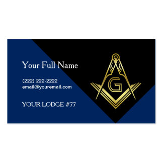 Modern Masonic Business Cards, Custom Freemasonry Pack Of Standard Business Cards