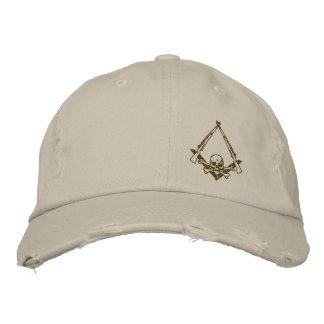 Modern Master Mason embroidered distressed hat Baseball Cap