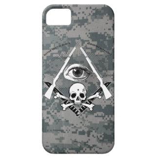 Modern Master Mason Garand Masonic Skull widows Case For The iPhone 5
