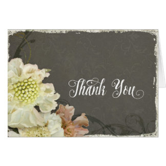 Modern Matching Thank You Notes Painterly Floral Note Card