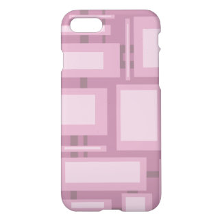 Modern Mauve Abstract Shapes iPhone 7 Case