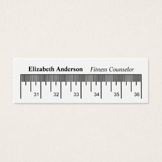 Modern Measuring Tape Fitness Counselor Mini Business Card