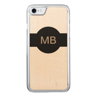 Modern Mens Monogram Carved iPhone 8/7 Case