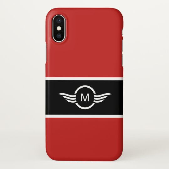 Modern Mens Monogram Style iPhone X Case