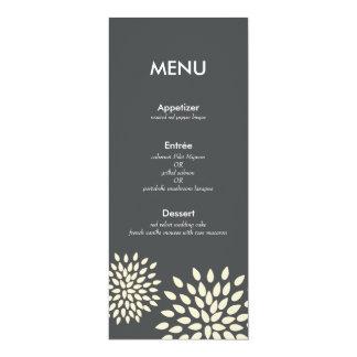 Modern Menu Card // Posh Petals // Vanilla 10 Cm X 24 Cm Invitation Card
