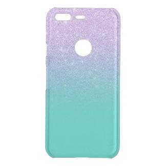 Modern mermaid lavender glitter turquoise ombre uncommon google pixel case