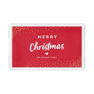 Modern Merry Christmas Acrylic Tray