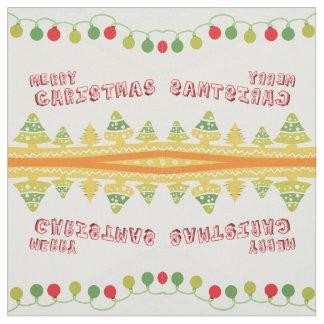 Modern Merry Christmas Design Fabric