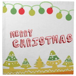 Modern Merry Christmas Design Napkin