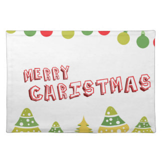 Modern Merry Christmas Design Placemat