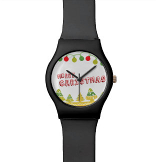 Modern Merry Christmas Design Watch